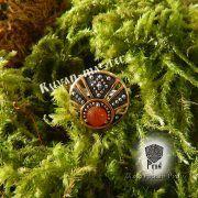 Кольцо «Лунничка с камнем» фото 3