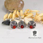Серьги «Луннички с камнями» фото 3