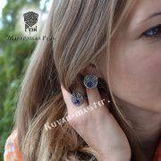 Серьги «Луннички с камнями» фото 2