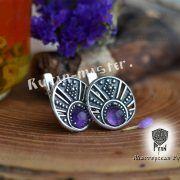 Серьги «Луннички с камнями» фото 4