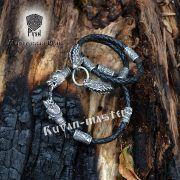 Кожаный шнур/браслет «Медведи кусачие» фото 3