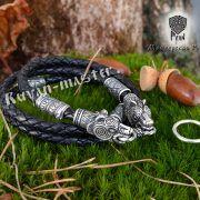 Кожаный шнур/браслет «Медведи кусачие» фото 1