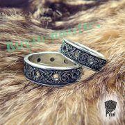 Серебряное кольцо-оберег «Звезда Руси» фото 1
