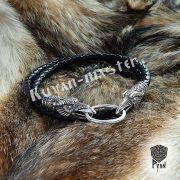 Гайтан (шнур), браслет «Вороны кусачие» из натуральной кожи фото 9
