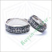 Обручальные кольца «Обережное» из серебра фото 6
