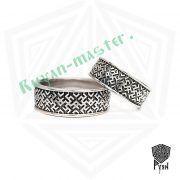 Обручальные кольца «Обережное» из серебра фото 1
