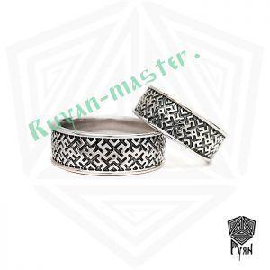 Обручальные кольца «Обережное» из серебра