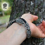 Кожаный гайтан (шнур), браслет «Олени кусачие» фото 3