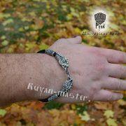 Кожаный гайтан (шнур), браслет «Олени кусачие» фото 4