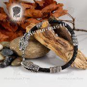 Кожаный гайтан (шнур), браслет «Олени кусачие» фото 5