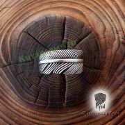 Серебряное кольцо перо Жар-Птица фото 6