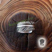 Серебряное кольцо перо Жар-Птица фото 7