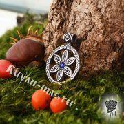 Длинные серьги Перунов цвет (Цвет папоротника) фото 2