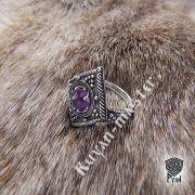 Перстень «Ромб с зернью» фото 4
