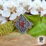 Перстень «Ромб с зернью» фото 1