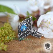 Перстень «Ромб с зернью» фото 2