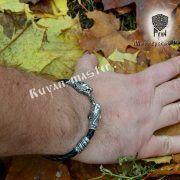 Шнур/браслет «Рыси кусачие» из натуральной кожи фото 10