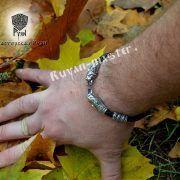 Шнур/браслет «Рыси кусачие» из натуральной кожи фото 3