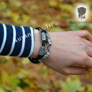 Шнур/браслет «Рыси кусачие» из натуральной кожи фото 4