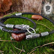 Шнур/браслет «Рыси кусачие» из натуральной кожи фото 2
