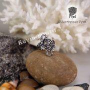 Кольцо зооморфное свастичное с головой грифа и дракона фото 4