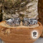 Перстень «Сила и Слава» с рунами Старшего Футарка фото 1