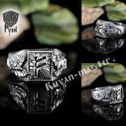 Перстень «Сила и Слава» с рунами Старшего Футарка фото 4