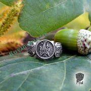 Кольцо «Танцующий журавль» фото 1