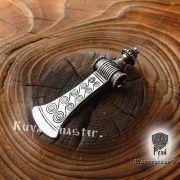 Серебряная подвеска «Топор боевой-скандинавский» фото 4