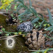 Перстень «Сила и Слава» с рунами Старшего Футарка фото 5