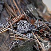 Серебряное кольцо «Феникс» фото 1