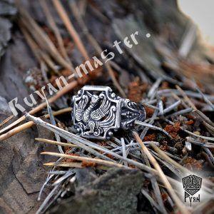 Серебряное кольцо «Феникс»