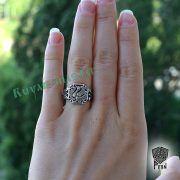 Серебряное кольцо «Феникс» фото 2