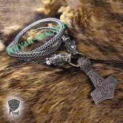 Серебрянная цепь «Волки кусачие» (плетение Викинг) фото 4