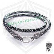 Серебрянная цепь «Вороны» (плетение Викинг) фото 1