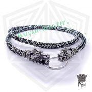 Серебряная цепь «Медведи кусачие» (плетение Викинг) фото 3