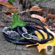 Шнур/браслет «Волки кусачие» из натуральной кожи фото 8