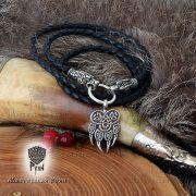 Гайтан шнур «Волки» из натуральной кожи фото 2