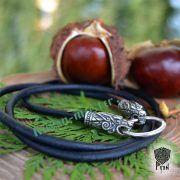 Гайтан шнур «Волки» из натуральной кожи фото 5
