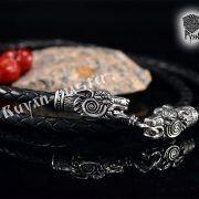 Шнур/браслет «Волки кусачие» из натуральной кожи фото 6