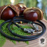 Шнур «Змеи» из натуральной кожи фото 7