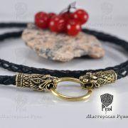 Гайтан шнур «Львы» из натуральной кожи фото 2