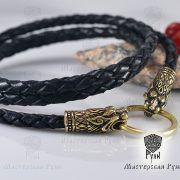 Гайтан шнур «Львы» из натуральной кожи фото 3