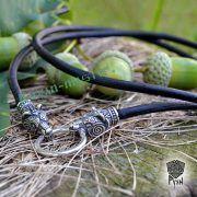 Гайтан шнур «Медведи» из натуральной кожи фото 6