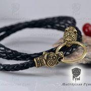 Гайтан шнур «Медведи» из натуральной кожи фото 4