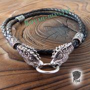 Кожаный гайтан (шнур), браслет «Олени кусачие» фото 6