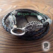 Кожаный гайтан (шнур), браслет «Олени кусачие» фото 7