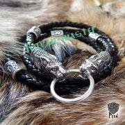 Шнур/браслет «Рыси кусачие» из натуральной кожи фото 7