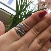 Серебряное кольцо перо Жар-Птица фото 2