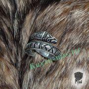 Кольцо с драконами и рунами старшего Футарка фото 8